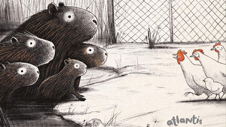 Die Wasserschweine im Hühnerhof