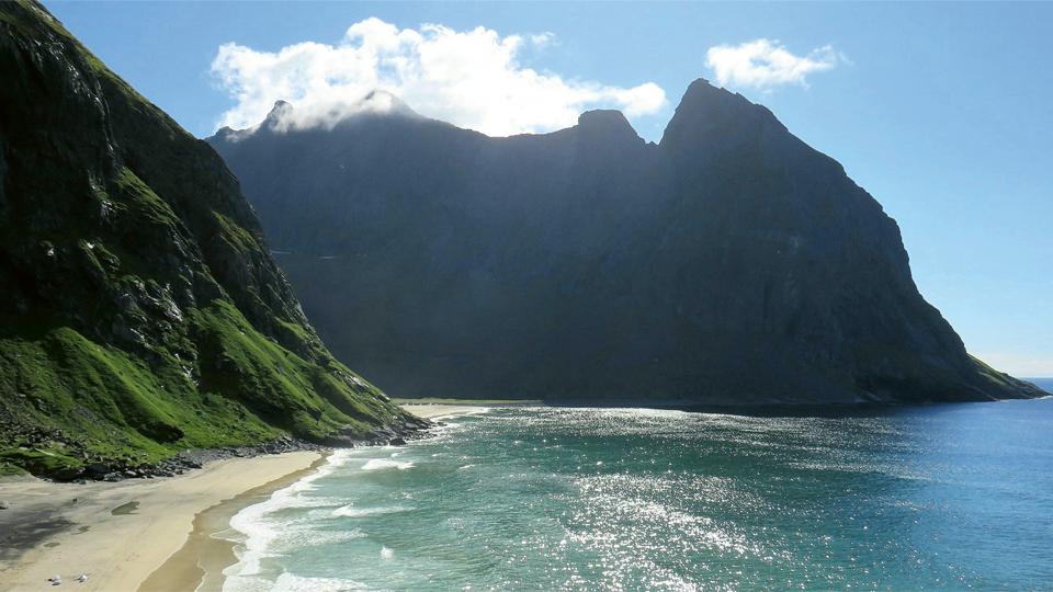 Strand der Lofoten-Inseln