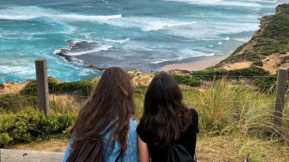 zwei Freundinnen in Australien