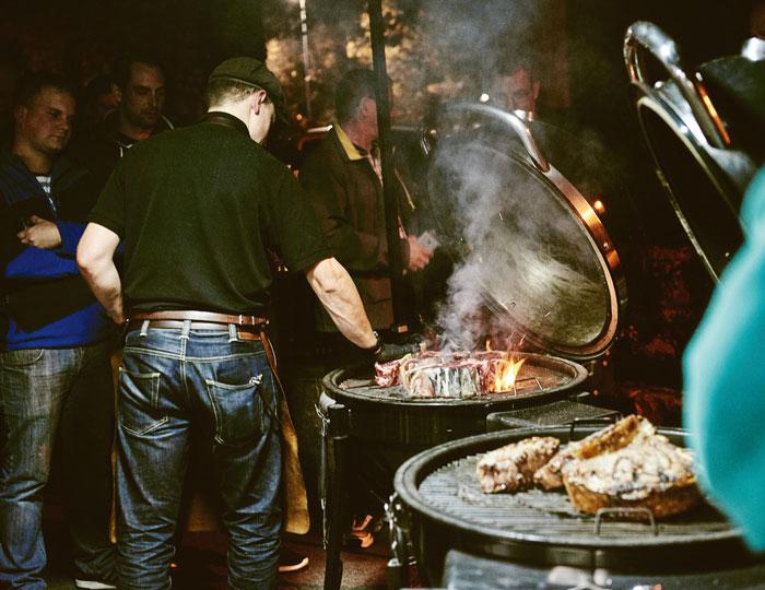 Aufnahme bei der Grill-on-fire Veranstaltung