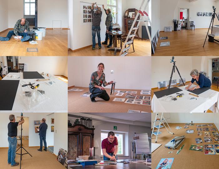 Bilder Collage über den Betrieb im Museum am Lindenplatz.