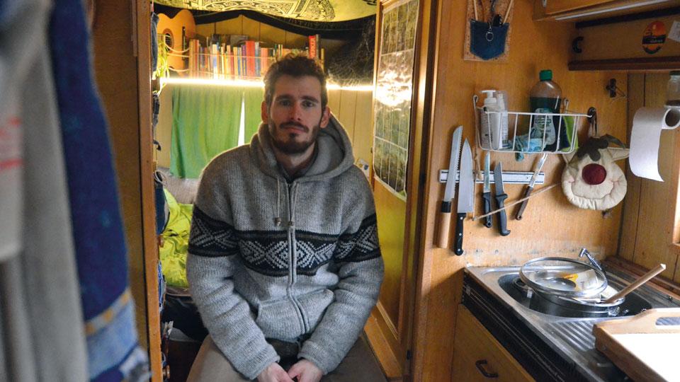 Lars Nungesser und seine fahrbaren acht Quadratmeter