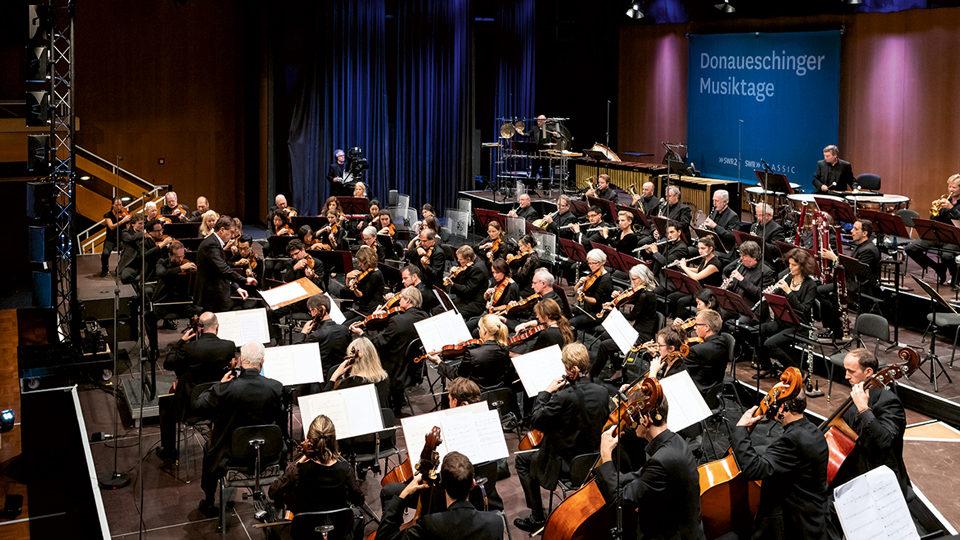 Orchester bei den Donaueschinger Musiktage