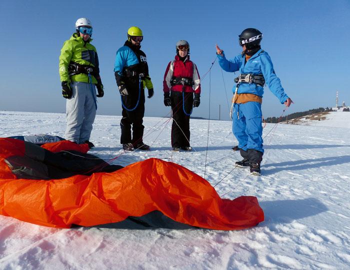 Einfuehrung Snowkiting