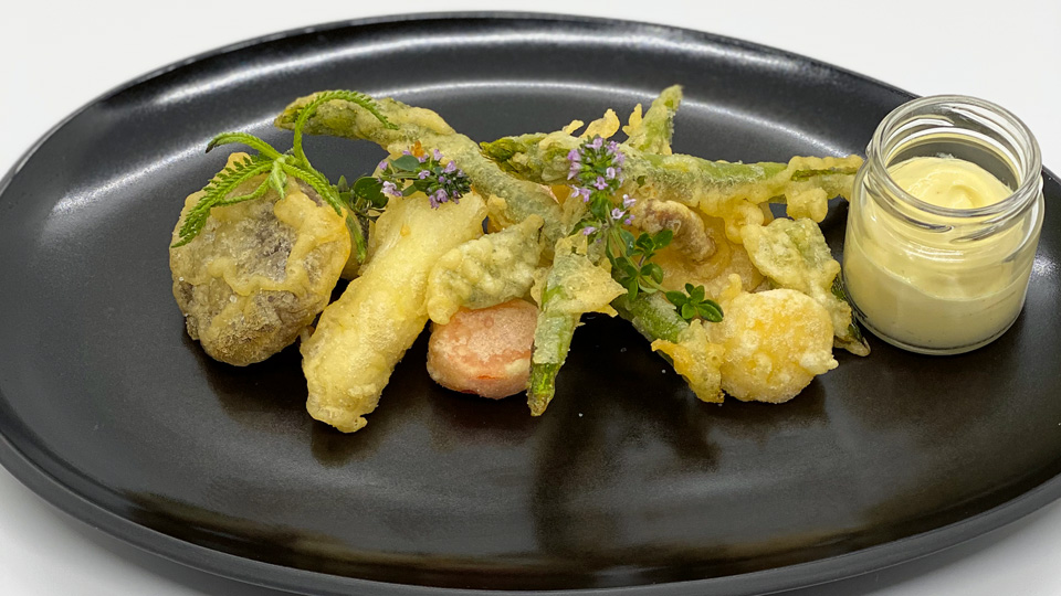 Gemüse-Tempura mit Limetten-Mayo