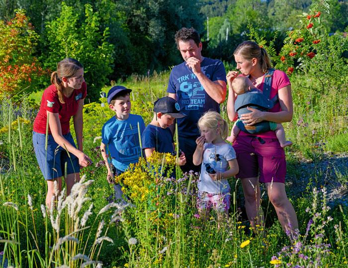 Familie in Nationalpark im Allgäu