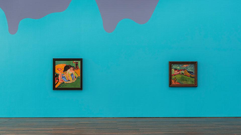 Farbwelten Wandmalerei Austellung im Museum Frieder Burda