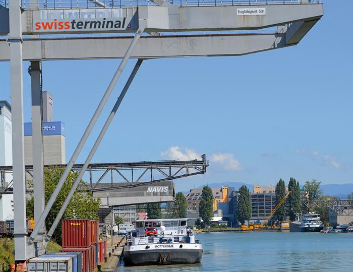 Frachtschiff Hafen Swiss