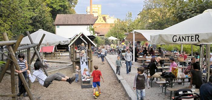 Biergarten Ganter in Freiburg