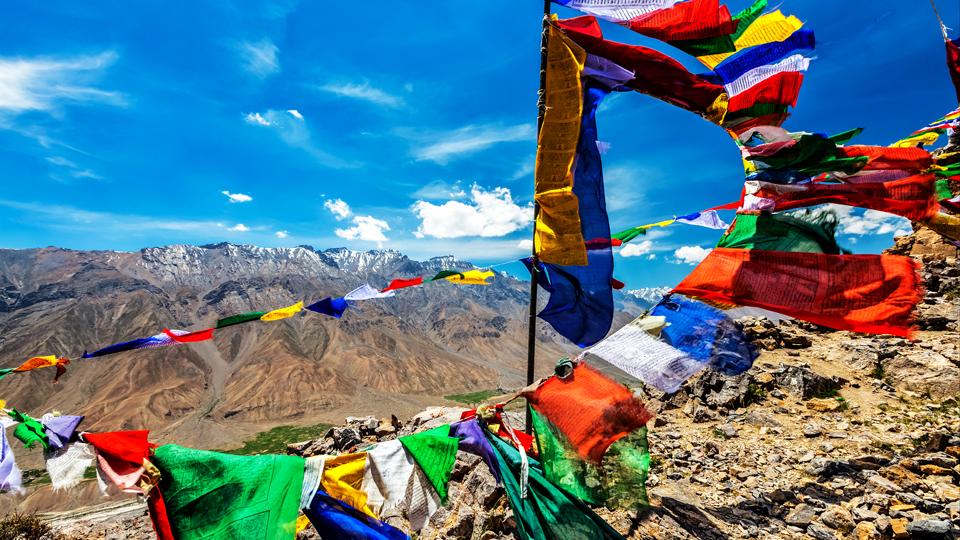 Gebetsfahne in Tibet