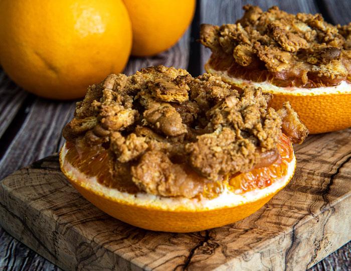 Gegrillte Orangen