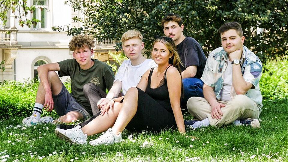 Gruppenfoto Gründer des Veganen Laden