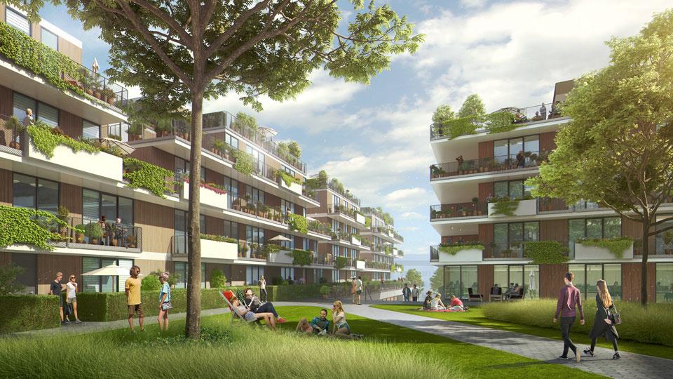 Visualisierung der Wohnungen