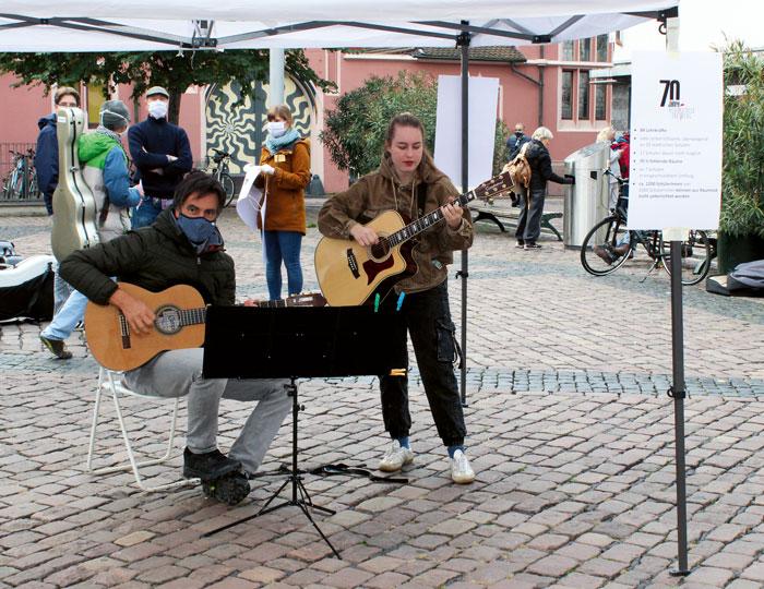 Demonstration der Musikschule in Freiburg