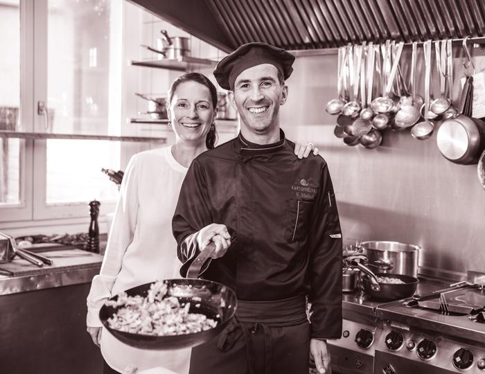 Karim und Bettina Köche