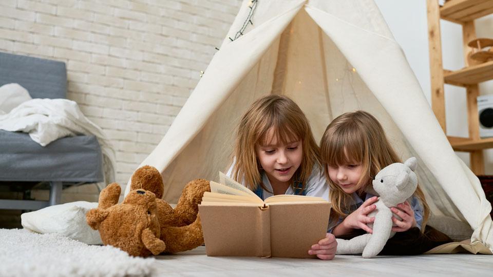 Kinder Zelt Lesen