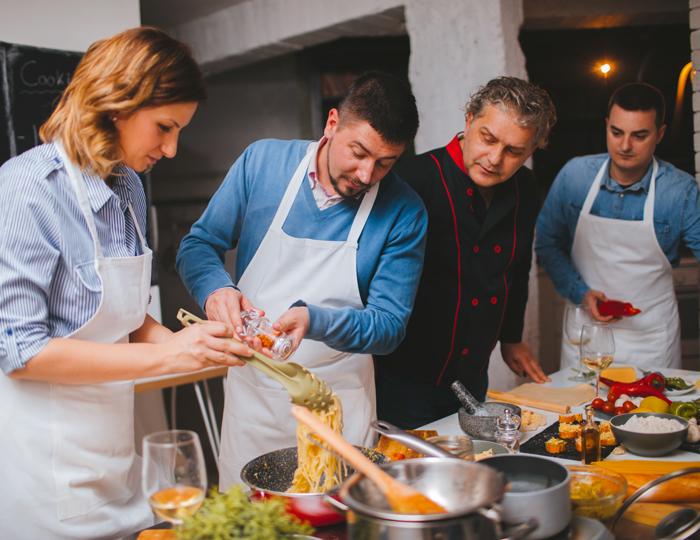 Kuechenparty Zusammen kochen
