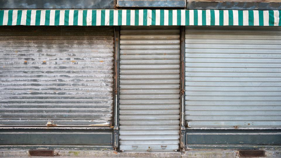 Ladentü geschlossen