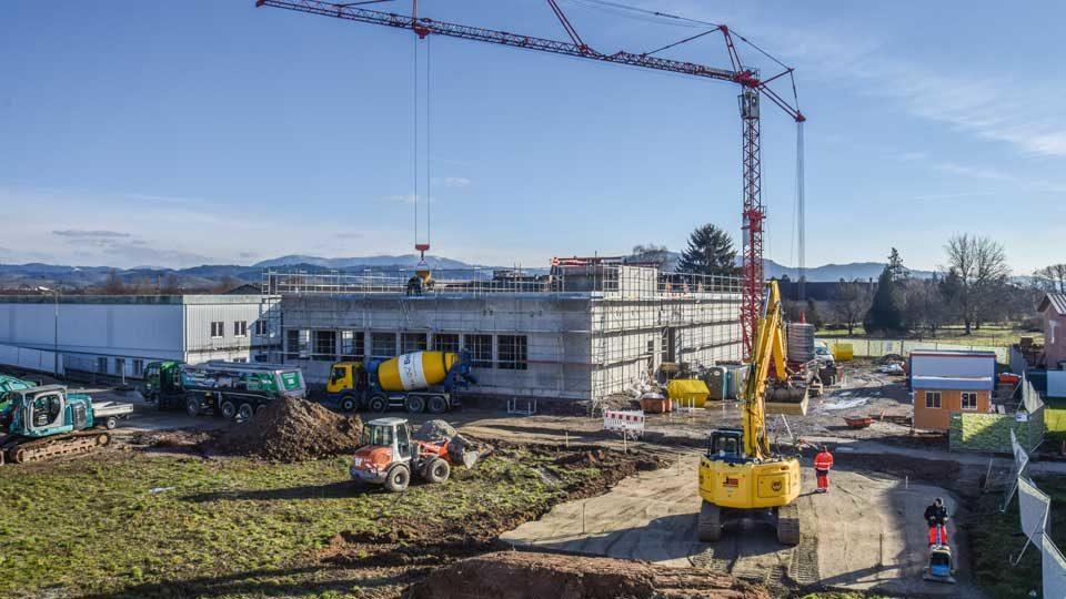 Baustelle Leitwerk