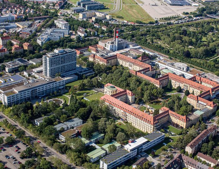 Luftbild Universitaetsklinikum Freiburg