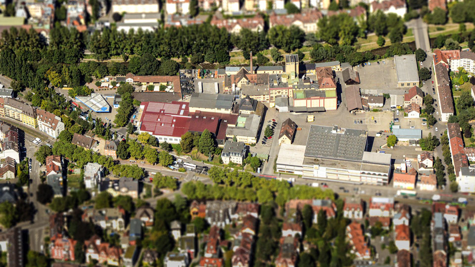 Luftbild Brauerei Ganter