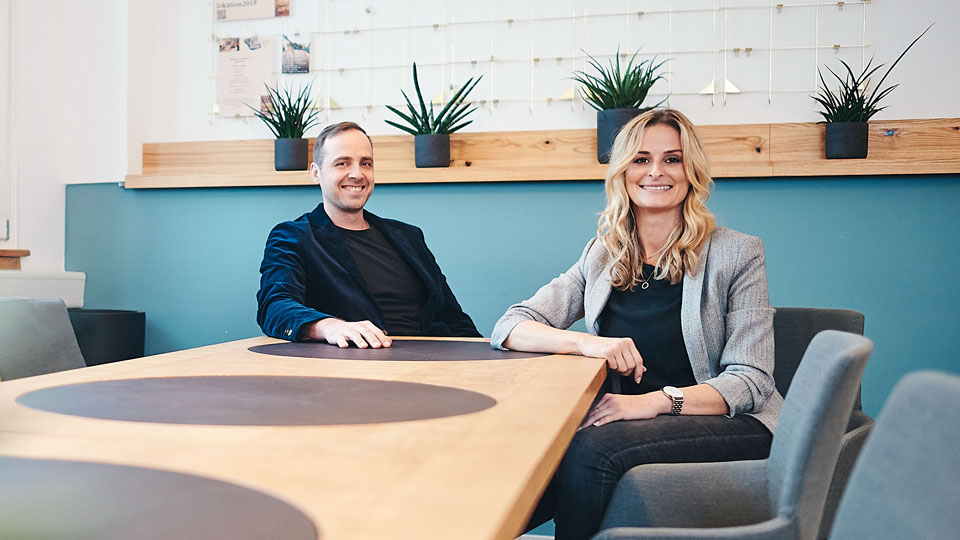 mehrpunkt-Geschäftsführer Petra Reutlinger und Nicolas Häbel