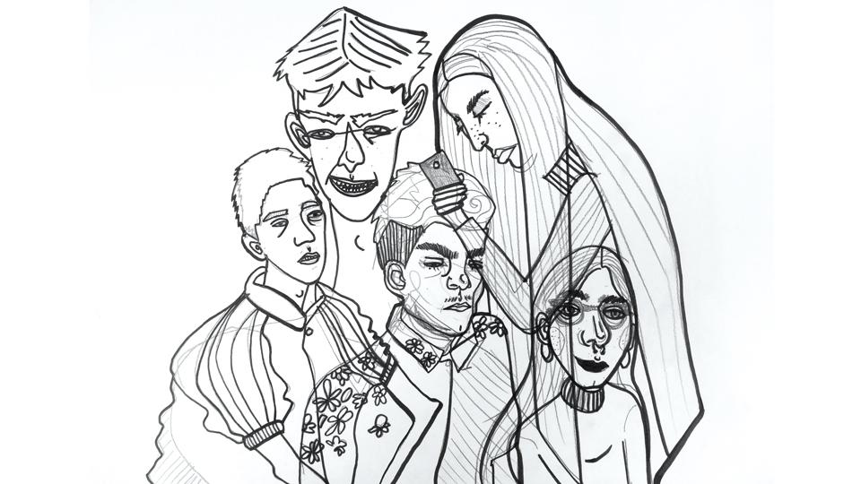 Illustration von Mitschüler-innen