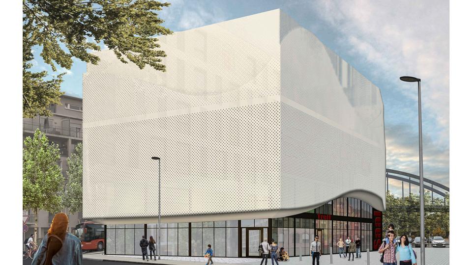 geplantes Musikhaus in Freiburg