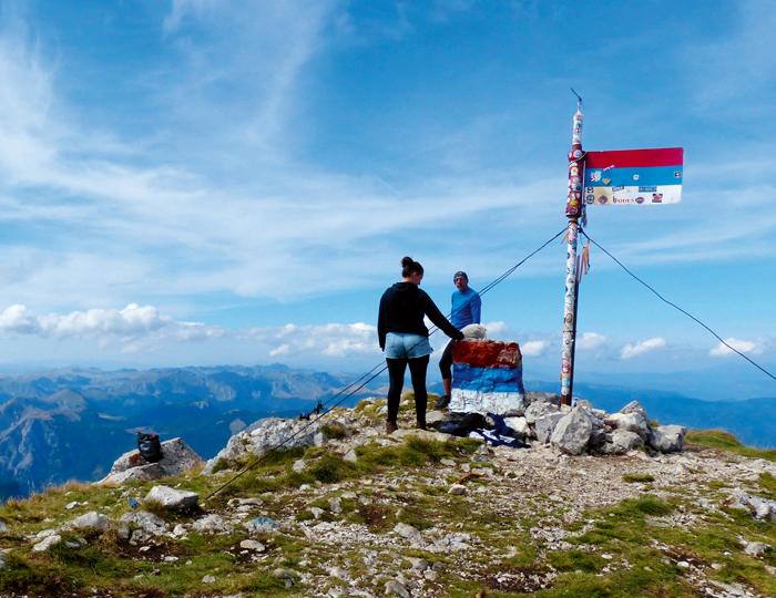 Nationalpark Bosnien Aussicht vom Berg Maglic