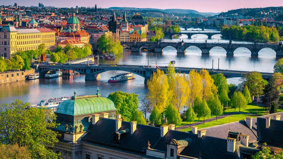Prag Moldau Ausblick