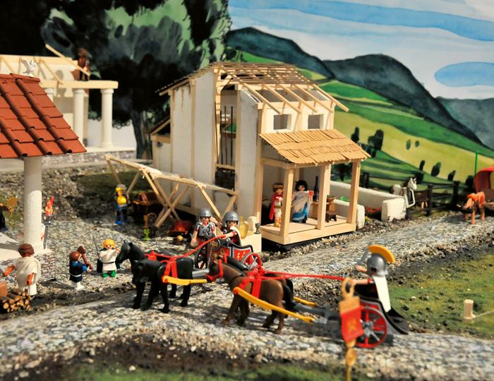 Ausstellung mit Playmobil