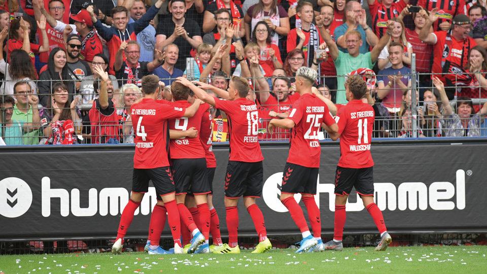SC Freiburg feiert