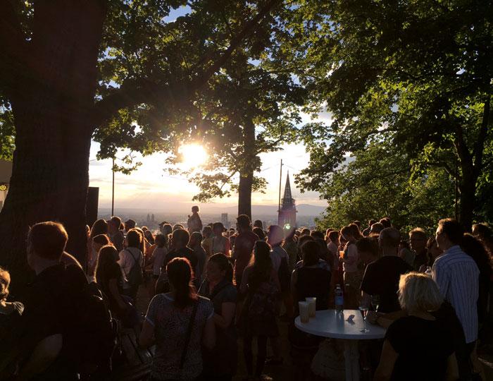 Schlossbergfest mit Sonnenuntergang