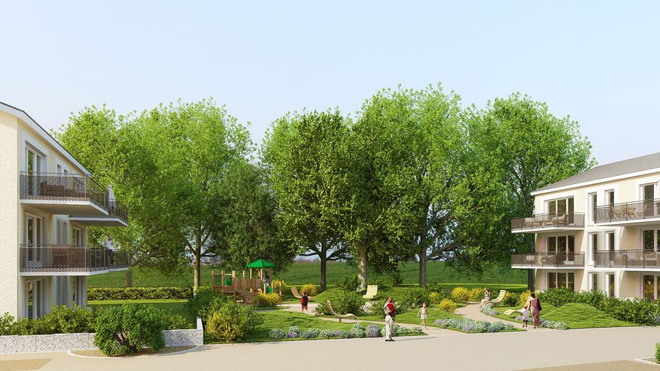 Visualisierung: Neubaugebiet Moos III