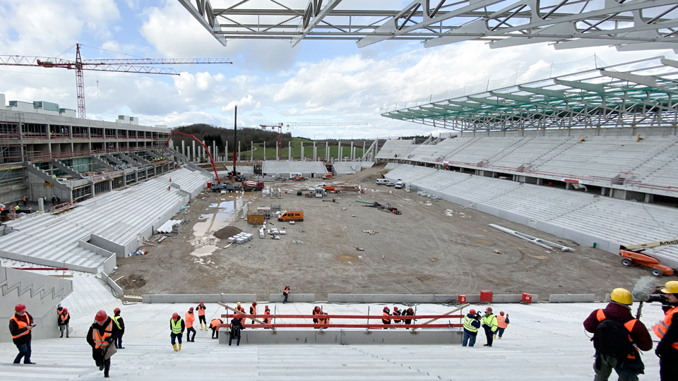 Fußballstadion Neubau