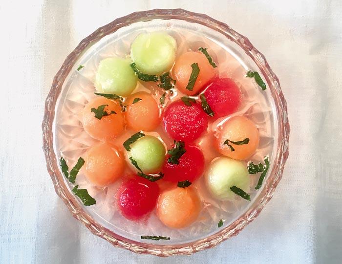 Eiskalte Melonensuppe