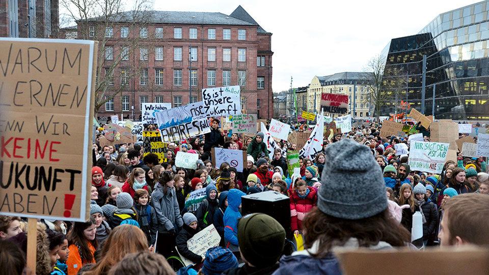 Streik in Freiburg gegen die Umwelt