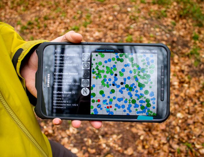 Tablet_für Bäume