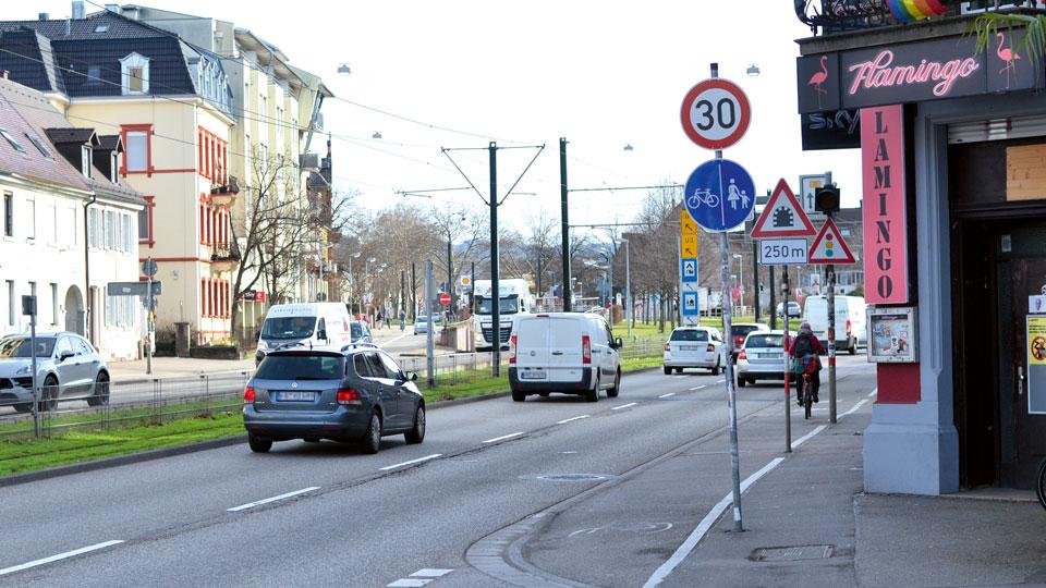Straße in Freiburg