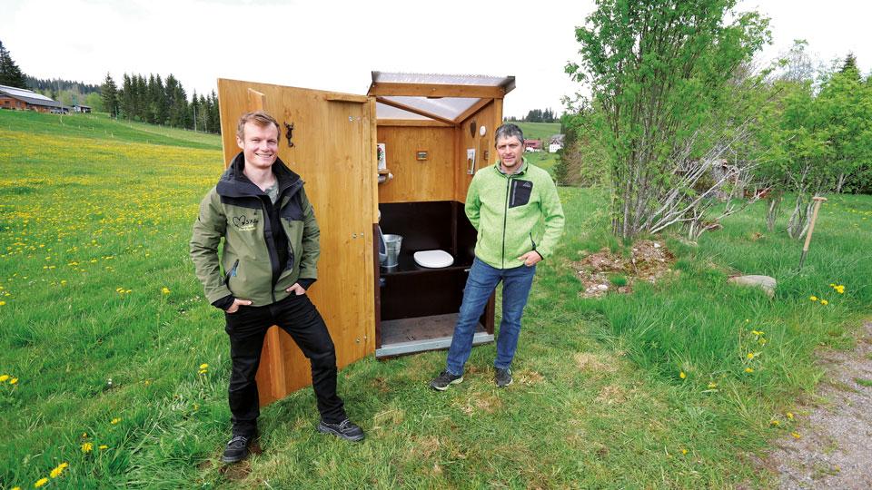Toilette Idee für Natur