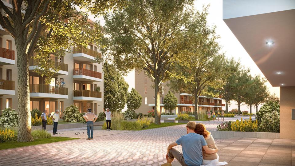 Visualisierung neues Wohngebiet