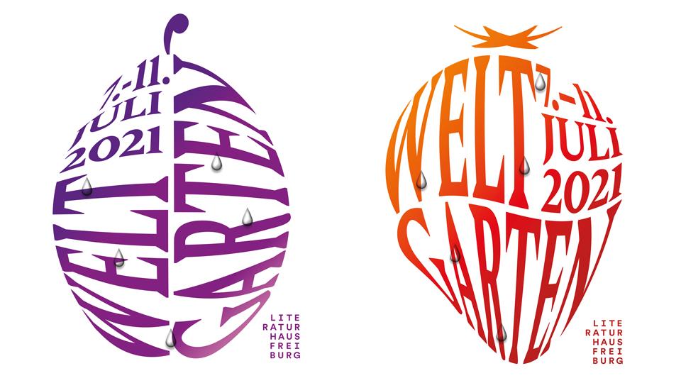 Plakat Weltgarten: Pflaume und Erdbeere