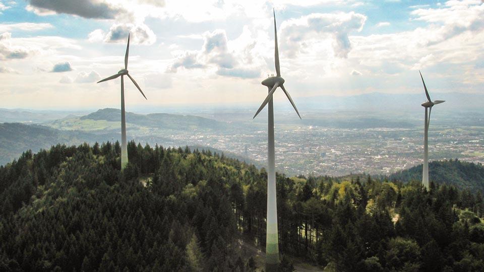Windräder auf dem Roßkopf