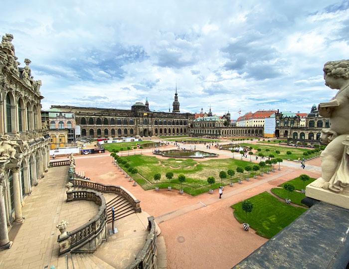 Zwinger Innenhof Dresden