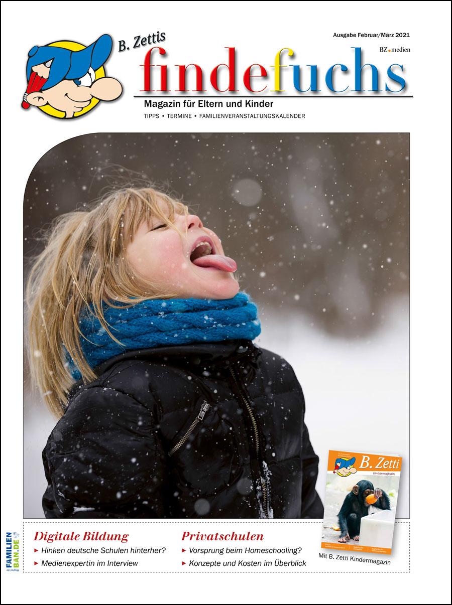 Cover findefuchs Ausgabe Februar/März 2021
