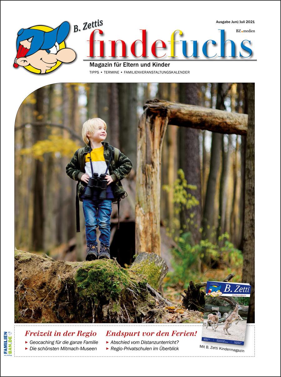 Cover findefuchs Ausgabe Juni/Juli2021