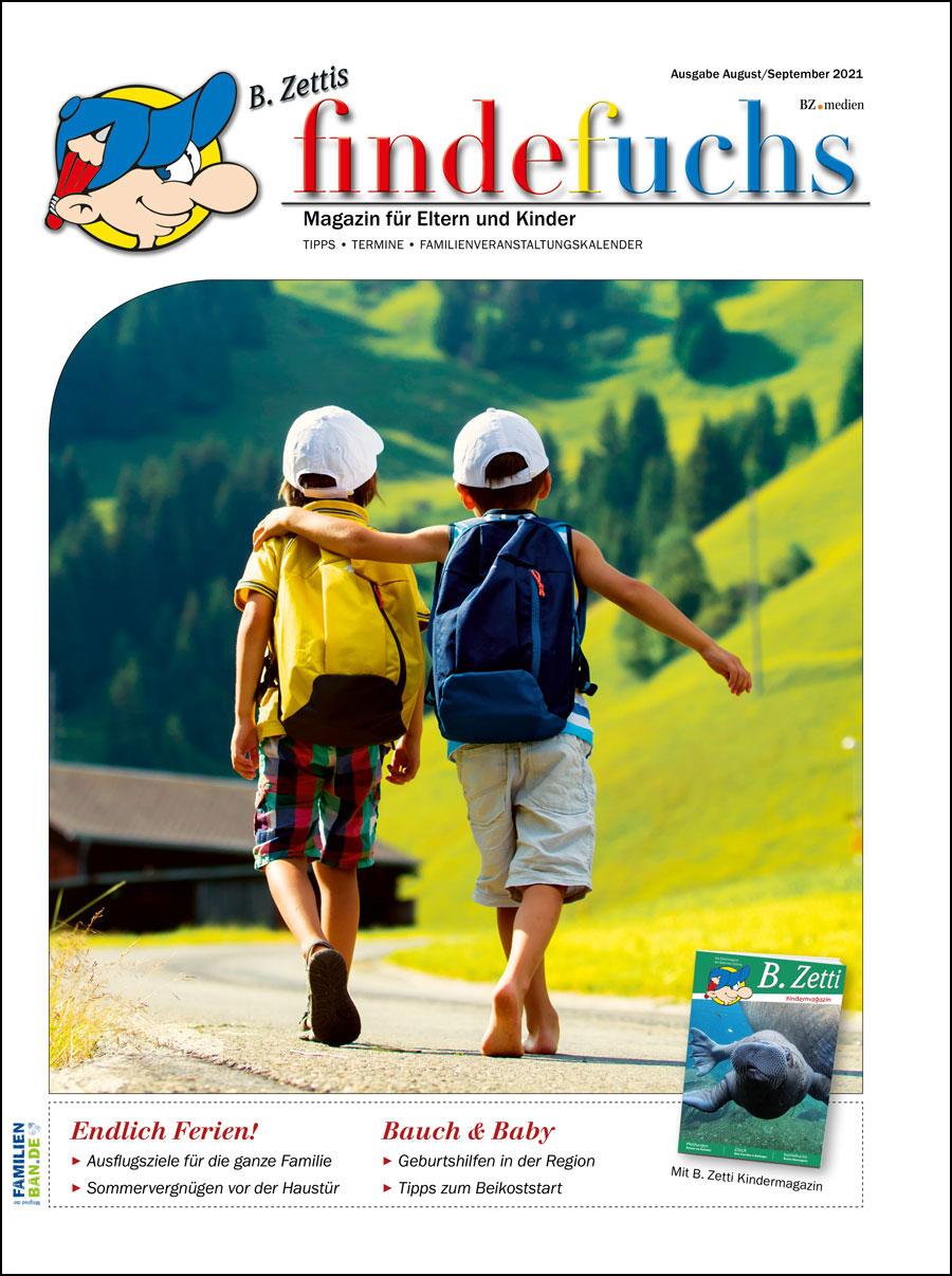 Cover findefuchs Ausgabe August/September 2021