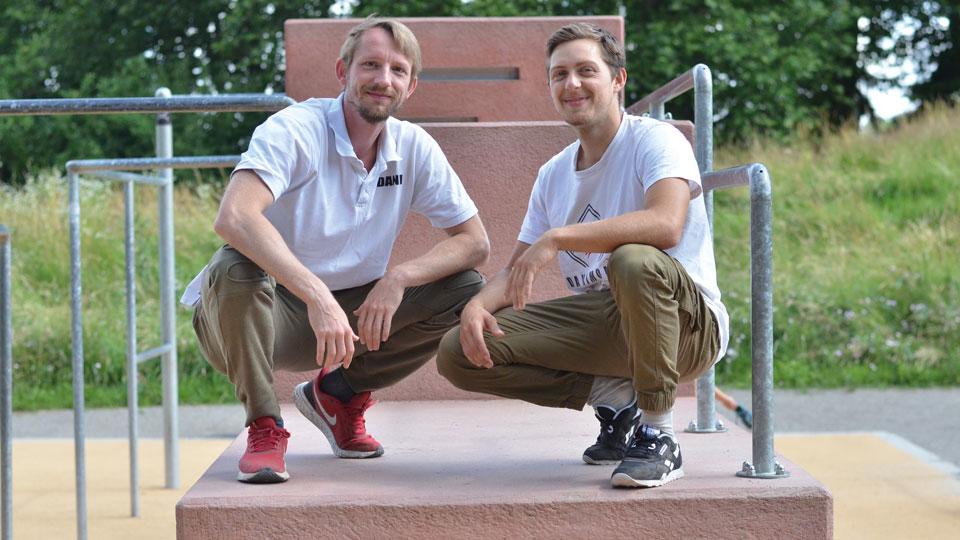 Daniel Armbrüster und Ruben Schubert