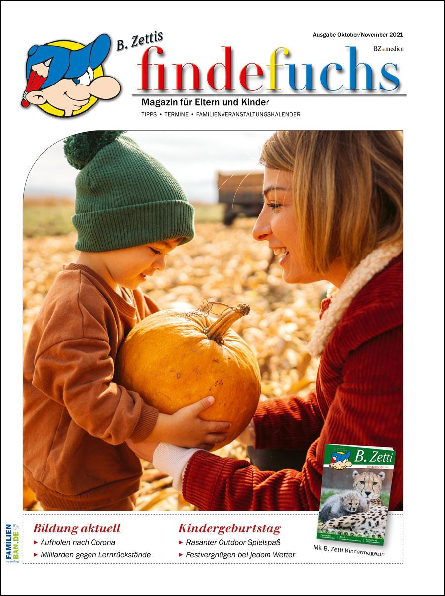 Cover findefuchs Ausgabe Oktober/November 2021