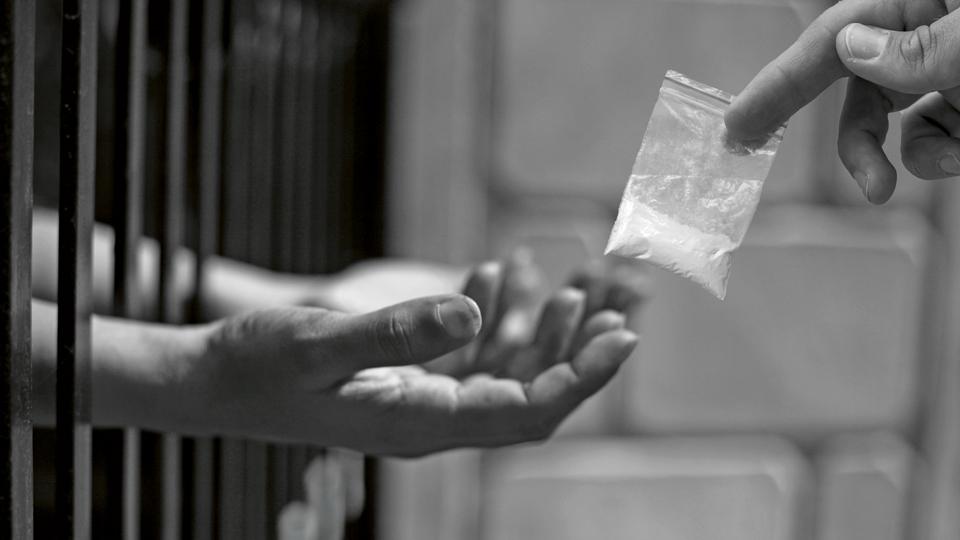 Drogenübergabe im Gefängnis